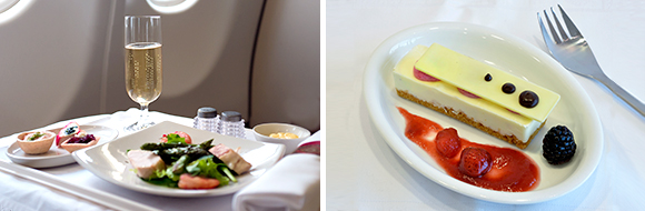 Business Class cuisine with South African Airways