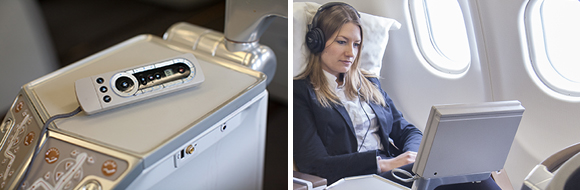 Business Class entertainment with South African Airways