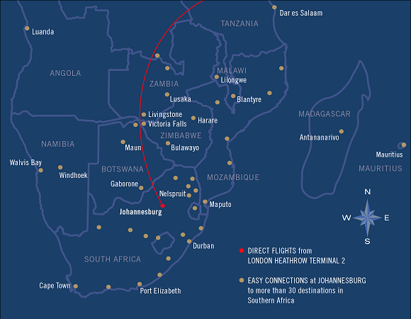 South African Airways Destinations