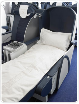 Bed in the aircraft