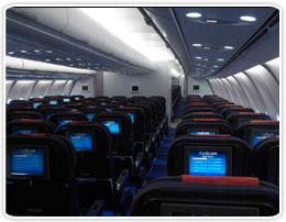 Switched On TVs in the aircraft