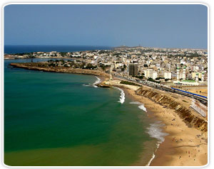 Looking towards Medina and Point E areas of Dakar. Senegal