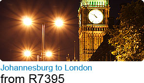 Johannesburg to London from R7395
