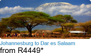 Johannesburg to Dar es Salaam from R4449*