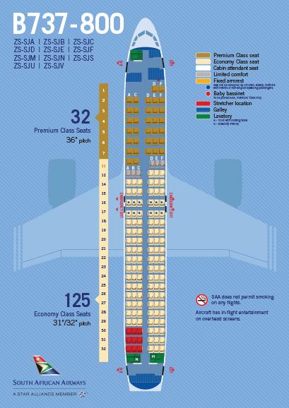 South African Airways Boeing 737 800