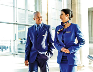flight attendants walking