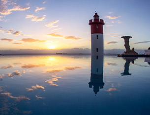 durban coastal view with lighthouse