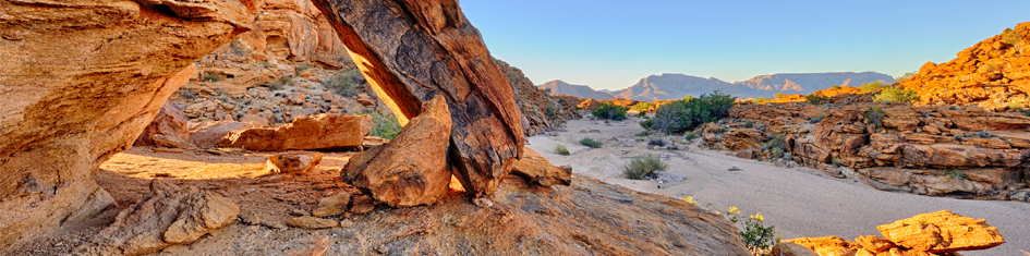 Rocks and boulders at upington Felsen und Geröll in Upington