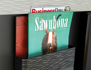 Magazines available in the aircraft